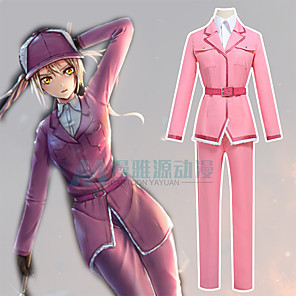 cheap Anime Costumes-Inspired by Cells at Work Anime Cosplay Costumes Japanese Cosplay Suits Top Pants Waist Belt For Women's