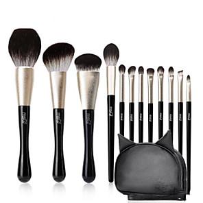 cheap Makeup Brush Sets-Professional Makeup Brushes 12pcs Professional Full Coverage Comfy Artificial Fibre Brush Wooden / Bamboo for Blush Brush Foundation Brush Makeup Brush Eyeshadow Brush