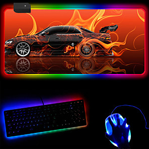 cheap Mouse Pad-Cool Car Rgb Luminous Mouse Pad  e-Commerce Magic Horse Customized Mouse Pad 250 * 350 * 4mm