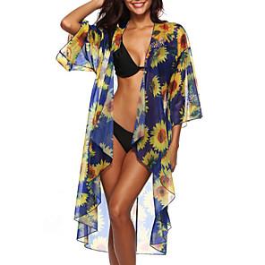 ieftine Tocuri de Damă-Pentru femei O Piesă Costum de baie Floral Costume de Baie Costume de baie Albastru piscină