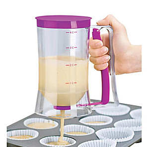 cheap Kitchen Utensils & Gadgets-900ml Batter Flour Paste Dispenser For Cupcakes Cookie Cake Muffins Measuring Cup Cream Speratator Pancake Batter Dispensers