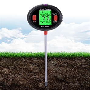cheap Testers & Detectors-5 in 1 Digital PH Meter Soil Water Moisture Monitor Temperature Humidity Analysis Sunlight Tester for Gardening Plants Farming