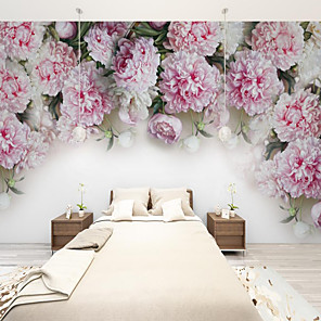 cheap Wallpaper-Art Deco  Custom Self-adhesive Mural Rose is Suitable for Background Wall Coffee Shop Hotel Wall Decoration Art