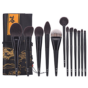cheap Makeup Brush Sets-Professional Makeup Brushes 12pcs Professional Soft Full Coverage Wooden / Bamboo for Eyeliner Brush Blush Brush Foundation Brush Makeup Brush Eyeshadow Brush