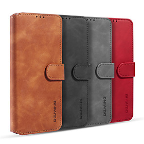 cheap Samsung Case-Case For Samsung Galaxy S20/S20 Plus/S20 Ultra/S10/S10E/S10 Plus/S10 5G/S9/Note 10/A90 5G/M31 Card Holder / Shockproof / Flip Full Body Cases Solid Colored PU Leather / TPU