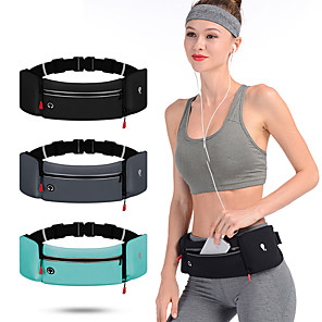 cheap Running Bags-Running Belt Fanny Pack Belt Pouch / Belt Bag for Running Hiking Outdoor Exercise Traveling Sports Bag Reflective Adjustable Waterproof Waterproof Material Men's Women's Running Bag Adults
