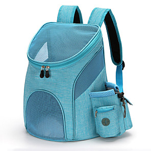 cheap iPad case-Dog Cat Pets Carrier Bag & Travel Backpack Travel Bag Dog Backpack Travel Carrier Bag Portable Breathable Durable Solid Colored Nylon puppy Small Dog Outdoor Hiking Black Black Blue