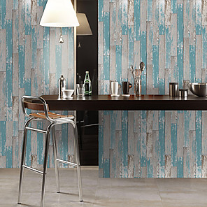 cheap Wall Stickers-Simulation Fir Pattern Floor Stickers Color Wall Stickers Pvc Waterproof Wear-resistant Thickened Stickers Blue Gray