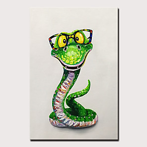 cheap Abstract Paintings-Mintura Original Hand Painted Snake Animal Oil Paintings on Canvas Modern Abstract Wall Picture Pop Art Posters For Home Decoration Ready To Hang