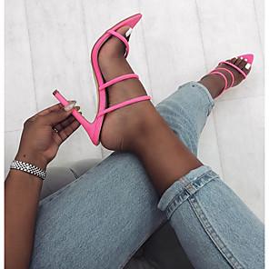 cheap Women's Sandals-Women's Heels / Sandals Summer Stiletto Heel Pointed Toe Daily PU Black / Yellow / Fuchsia