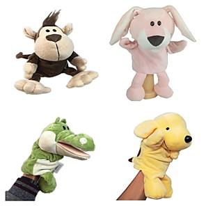 cheap Stuffed Animals-4 pcs Finger Puppets Educational Toy Hand Puppet Hand Puppets Stuffed Animal Plush Toy Animal Series Dinosaur Bear Parent-Child Interaction PP Plush 32cm Imaginative Play, Stocking, Great Birthday