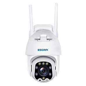 cheap Outdoor IP Network Cameras-ESCAM QF288 1080P Pan/Tilt/8X Zoom AI Humanoid Detection Cloud Storage Waterproof WiFi IP Camera with Two Way Audio