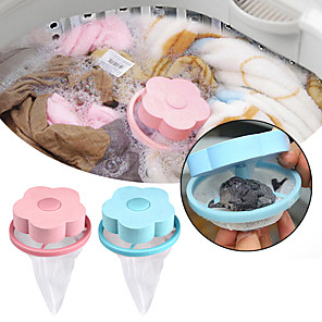 cheap Other Housing Organization-Hair Removal Catcher Filter Mesh Pouch Cleaning Balls Bag Dirty Fiber Collector Washing Machine Filter Laundry Balls Discs