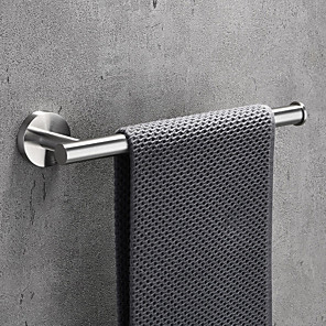 Towel Bar Robe Hook Bathroom Shelf