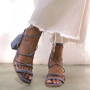 abordables Ceintures de Soirée-Femme Sandales Eté Block Heel Bout ouvert Quotidien Polyuréthane Noir / Violet / Rose