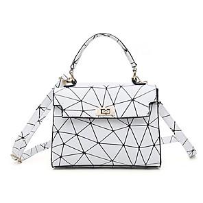 cheap Handbag & Totes-Women's Bags PU Leather Crossbody Bag Zipper for Daily White / Black
