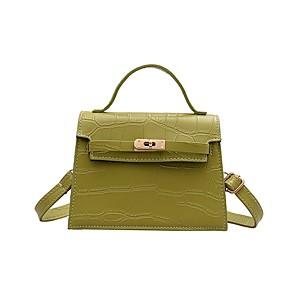 cheap Party Sashes-Women's Bags PU Leather Crossbody Bag Zipper Chain for Daily White / Black / Blue / Khaki / Green