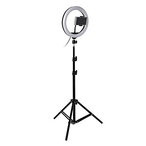 cheap Ring light-Photo LED Selfie Ring Fill Light 10inch Dimmable Camera Phone 26CM Ring Lamp With Stand Tripod For Makeup Video Live Studio