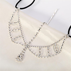 cheap Hair Jewelry-Women's Hair Jewelry For Gift Festival Flower Cord Imitation Diamond White 1pc
