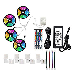cheap LED Strip Lights-20M LED Light Strips RGB Tiktok Lights Not-Waterproof SMD 5050 10mm 600LEDs Rope Lighting Color Changing Full Kit with 44-keys IR Remote Controller LED Lighting Strips for Home Kitchen Indoor Decorati