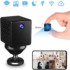 cheap Indoor IP Network Cameras-VStarcam 1080p Mini Hidden Camera Mini Spy Cam Wireless Hidden Nanny Cam with Night Vision& Motion Detection Battery Powered Loop Recording Spy Cam for Home& Office Security Monitor (Without TF Card)