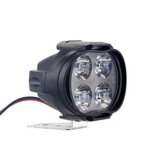 cheap Motorcycle Lighting-2pcs 30W Motorcycles Headlight bike Headlight bulb Super Bright 4 LED Waterproof Driving Spot Fog Lights External LED