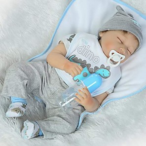 cheap Reborn Doll-Reborn Baby Dolls Clothes Reborn Doll Accesories Cotton Fabric for 22-24 Inch Reborn Doll Not Include Reborn Doll Dinosaur Soft Pure Handmade Boys' 6 pcs