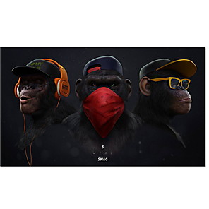 cheap Prints-Wall Art Paintings Prints Swag Monkey Orangutan Apeman on Canvas Cool Modern Style Wall Poster Home Decor Living Room Decoration