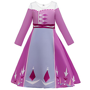 cheap Anime Costumes-Fairytale Dress Girls' Movie Cosplay Cosplay Princess Purple Dress Children's Day Polyester Cotton