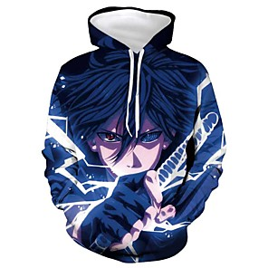 cheap Anime Costumes-Inspired by Naruto Cosplay Costume Hoodie Terylene Print Printing Hoodie For Men's / Women's