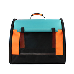 cheap Dog Travel Essentials-Dog Cat Pets Cages Travel Bag Travel Carrier Bag Portable Breathable Foldable Patchwork Oxford Cloth Baby Pet Small Dog Outdoor Hiking Blue