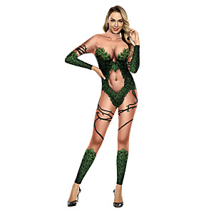 cheap Anime Costumes-Zentai Suits Catsuit Skin Suit Ninja Adults' Cosplay Costumes Ultra Sexy Men's Women's Printing Halloween Carnival Masquerade / Leotard / Onesie