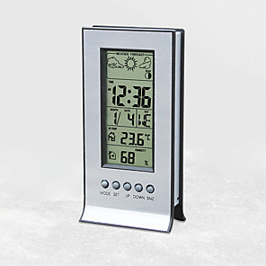 cheap Testers & Detectors-H106A weather forecast station at home electronic desk clock indoor hygrometer digital electronic alarm clock multifunction weather station