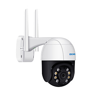 cheap Indoor IP Network Cameras-ESCAM QF518 5MP Pan/Tilt AI Humanoid Detection Auto Tracking Cloud Storage Waterproof WiFi IP Camera with Two Way Audio Night Vision