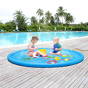 cheap Inflatable Ride-ons & Pool Floats-Kiddie Baby Pool Swimming Pool Mixed Material Summer Swimmer Daily Wear Pool 1 pcs Unisex Kid's Adults