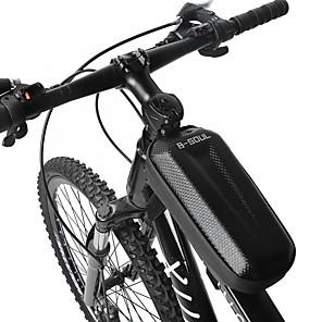 cheap Bike Frame Bags-1.5 L Bike Handlebar Bag Waterproof Cycling Skidproof Bike Bag EVA Bicycle Bag Cycle Bag Outdoor Exercise