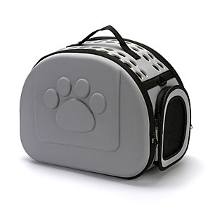 cheap Music Boxes-Dog Rabbits Cat Cages Foldable Travel Carrier Bag Airline Approved Pet Carrier Portable Durable Casual / Daily Solid Colored Silica Gel Black Red Pink