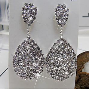 cheap Earrings-Women's Drop Earrings Stylish Elegant Imitation Diamond Earrings Jewelry Silver For Date Festival