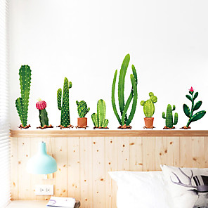 cheap Wall Stickers-Fresh Cactus Wall Stickers PVC Home Decoration Wall Decal Wall Decoration