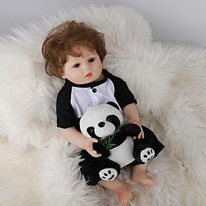 cheap Reborn Doll-FeelWind 18 inch Reborn Doll Baby & Toddler Toy Reborn Toddler Doll Baby Boy Gift Cute Lovely Parent-Child Interaction Tipped and Sealed Nails Full Body Silicone LV057 with Clothes and Accessories