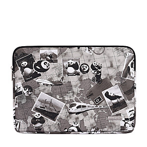 cheap Sleeves,Cases & Covers-11.6 12 13.3 14 15.6 Inch Laptop Sleeve Polyester Cartoon Character Panda For Women Pink Waterpoof Shock Proof