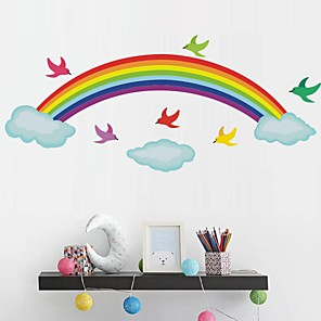 cheap Wall Stickers-Rainbow Decorative Wall Stickers Kids Room