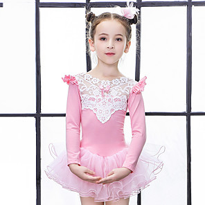 cheap Movie & TV Theme Costumes-Girls' More Costumes Ballet Dance Party Costume Princess Cotton Mauve Pink Blue Dress / Kid's