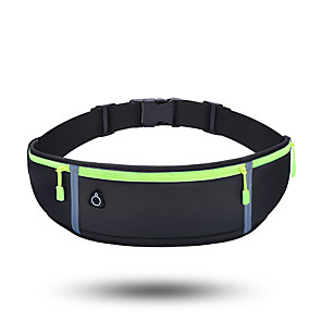 cheap Running Bags-Running Belt Fanny Pack Belt Pouch / Belt Bag for Running Hiking Outdoor Exercise Traveling Sports Bag Adjustable Waterproof Portable Lycra® Men's Women's Running Bag Adults