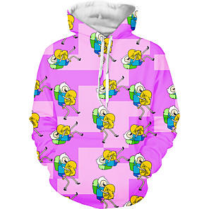 cheap Anime Costumes-Inspired by Adventure Time Cosplay Costume Hoodie Polyster Print Printing Hoodie For Men's / Women's