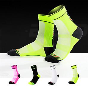 cheap Dog Collars, Harnesses & Leashes-Socks Cycling Socks Men's Women's Bike / Cycling Breathable Quick Dry Warm 1 Pair Winter Chinlon Elastane White Black Fuchsia M L / Mountain Bike MTB / Sweat-wicking