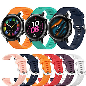 cheap Smartwatch Bands-Sport Silicone Wrist Strap Watch Band for Huawei Watch GT2 42mm / Magic Watch 2 42mm / Watch 2 Replaceable Bracelet Wristband