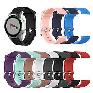 cheap Smartwatch Bands-22mm / 18mm Texture Watch Band for Garmin Vivoactive 4 / Garmin Vivoactive 4S Watch Strap Texture Sport Watch band Replacement Band for Garmin Vivoactive 4 / Garmin Vivoactive 4S