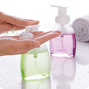 cheap Soap Dispensers-250ml Empty Squeezed Foaming Pump Soap Foam Bottle Cosmetic Containers Dispenser PET Liquid Travel Bottle