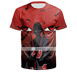 cheap Everyday Cosplay Anime Hoodies & T-Shirts-Inspired by Naruto Cosplay Costume T-shirt Polyster Print Printing T-shirt For Men's / Women's